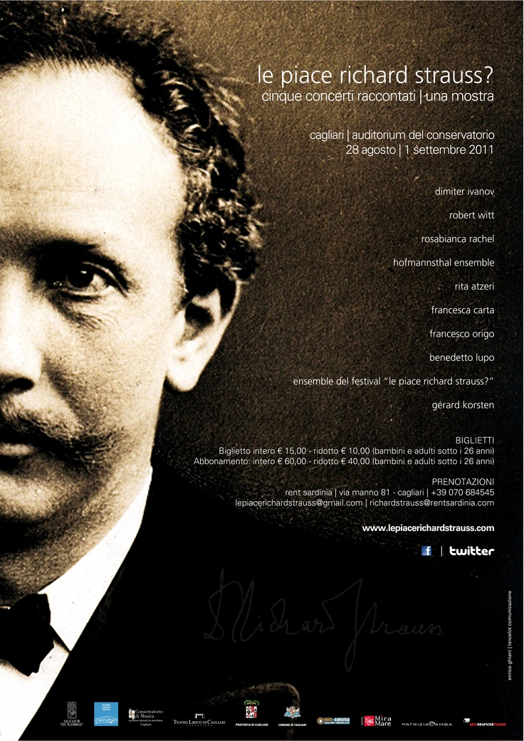 Le piace Richard Strauss? Poster for music festival dedicated to Richard Strauss