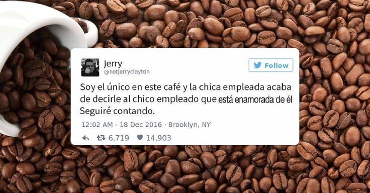 Usuario de Twitter escribió en vivo y directo como una barista le confesó su amor al otro chico que trabajaba en una cafetería, pues era el único cliente allí.