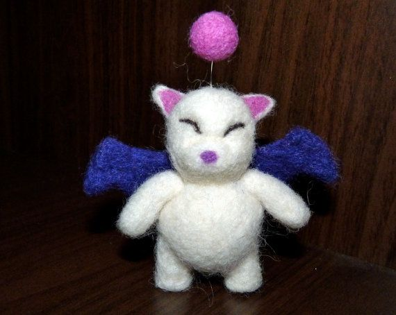 felted moogle final fantasy by WoodlandFeltCrafts on Etsy, €20.00