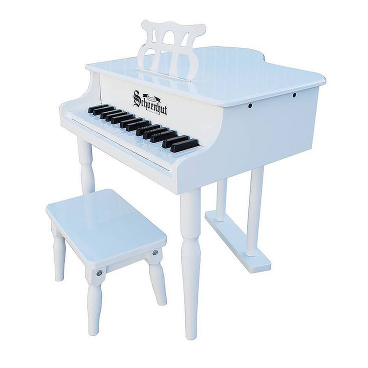 Schoenhut Toy Piano 30 Key Classic Baby Grand Piano Schoenhut's miniature version of a baby grand piano is designed to encourage a child to play and develop a love of music. Elegant in appearance with