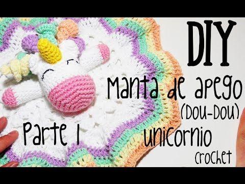 DIY Manta de apego Unicornio Parte 1 crochet/ganchillo (tutorial) - YouTube