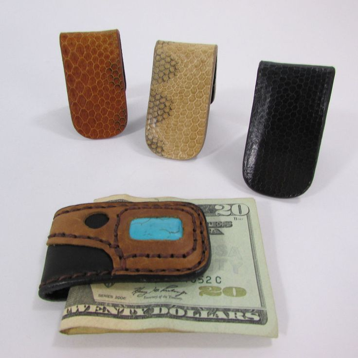 New Men Black Beige Brown Magnet Fashion Money Clip Genuine Leather / Snake Skin #Unbranded #Moneyclip
