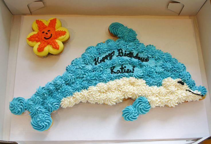 Dolphin Cupcake Cake