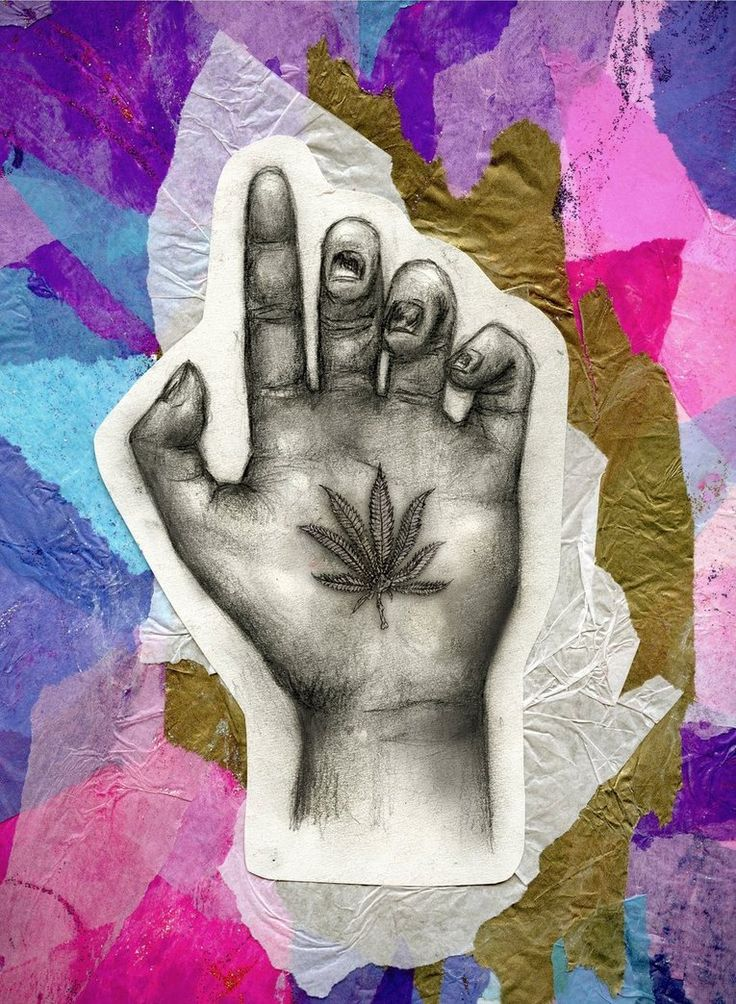 Ganja Hand- i wanna do this with water color! bomb