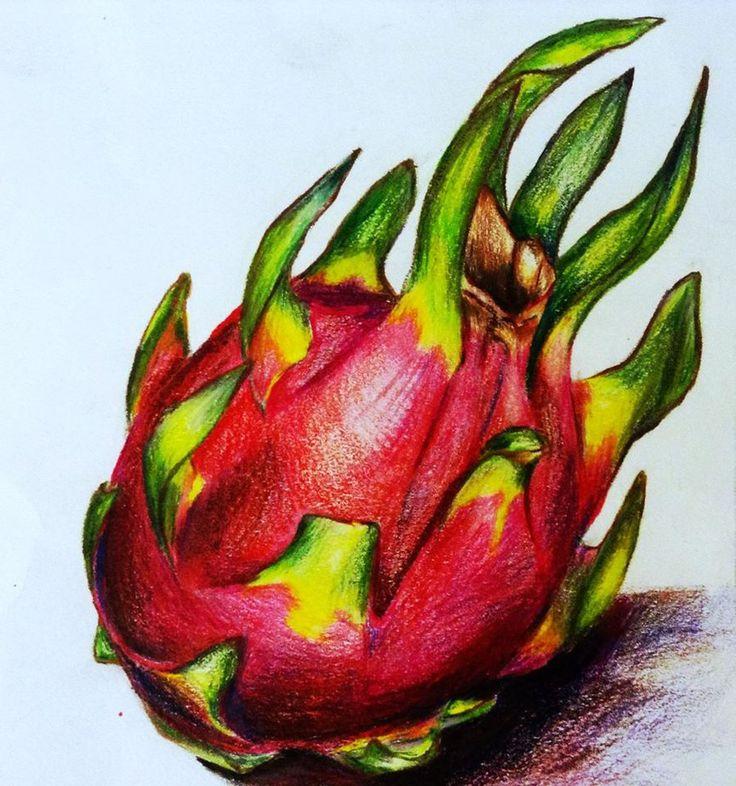 драконий фрукт картинки нарисовать светится темноте
