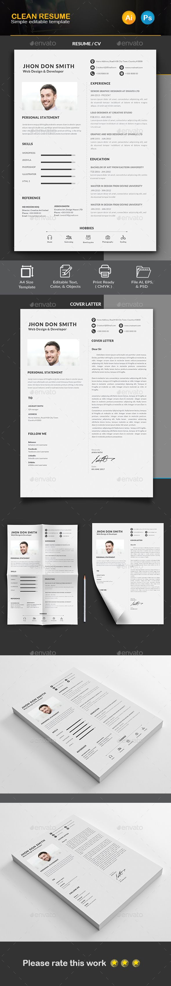 Resume by Createart 97 best Stationary Design