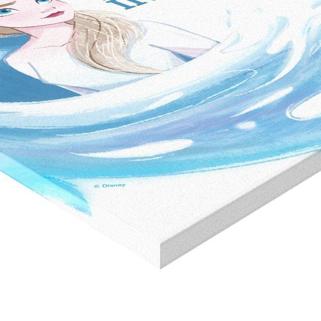Frozen 2 Elsa The Nokk Portrait Canvas Print Zazzle Com Canvas Prints Canvas Print