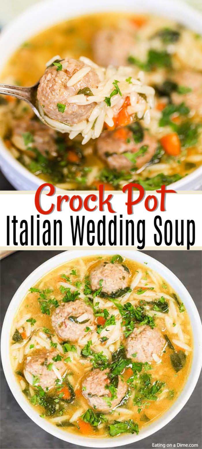 CROCK POT ITALIAN WEDDING SOUP RECIPE So easy! Recipe