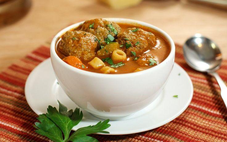 30-Minute Light Italian Meatball Soup
