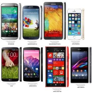 Apple iPhone 5S vs 5C, Samsung Galaxy S5, S4, HTC One M8, LG G3: UK Sales Charts