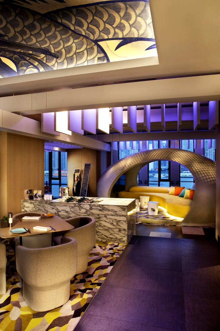 Hotel Indigo Shanghai on the Bund designed by Hirsch Bedner Associates. Lighting design by Illuminate.