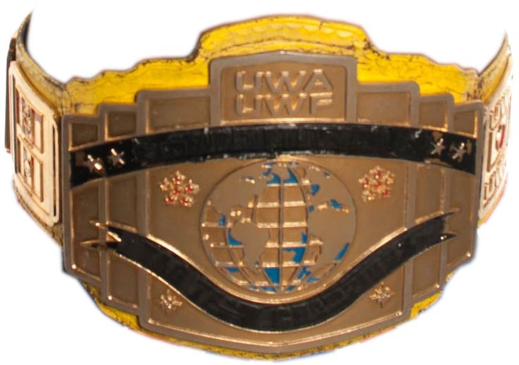 All Star Wrestling:British Light Heavyweight Championship. A re-purposed UWA UWF belt where they've used black tape to hide it's previous identity. The belt design is obviously Inspired by the Classic WWE intercontinental championship.