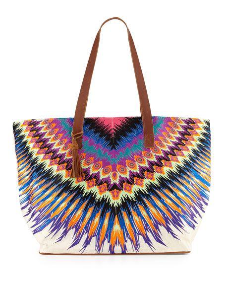 PilyQ Printed Beach Tote Bag $194.00