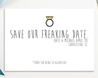 funny save the date - Google Search