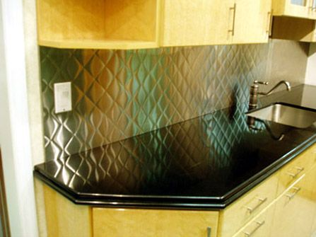 Brushed 3 Quot Quilted Stainless Steel Backsplash Brooks