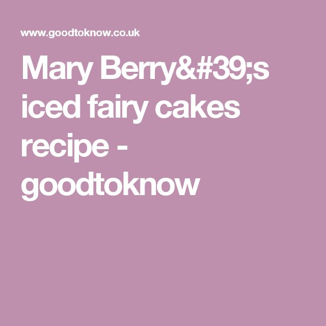How to make iced fairy cakes
