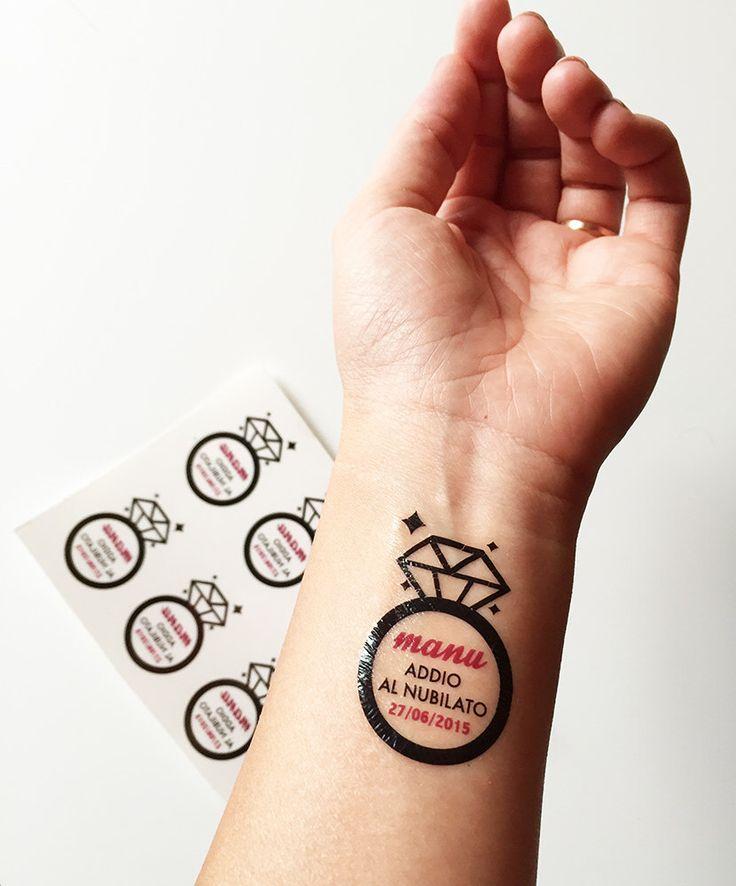 Un preferito personale dal mio negozio Etsy https://www.etsy.com/it/listing/242824833/temporary-tatoos-addio-nubilato