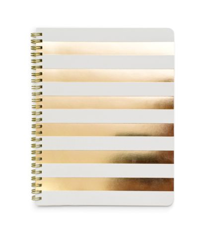 Sugar Paper Gold Stripe Notebook, $18 {cute!}