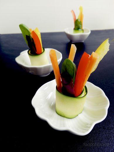 Aperitivo di verdure veloce - rotolini di zucchine