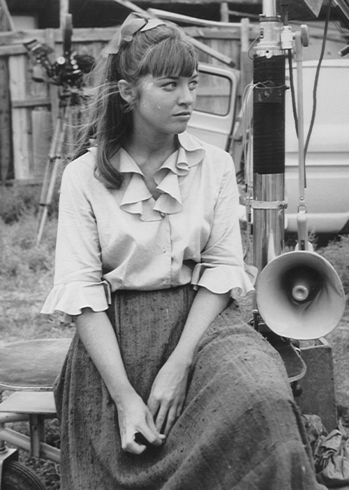 Veronica Cartwright on the set of Daniel Boone, 1960s