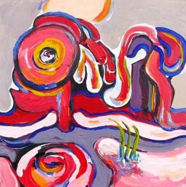 "Saatchi Art Artist Elisabeta Vlad; Painting, ""Abstract composition"" #art"