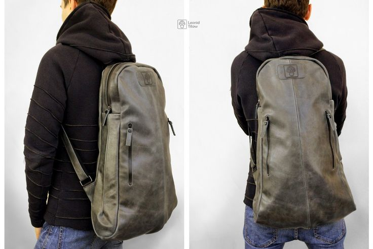 handmade leather backpack www.leonidtitow.com