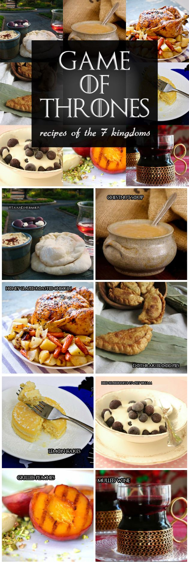 Game of Thrones: Recipes of the Seven Kingdoms. Some great ideas for your GoT Gathering menu.