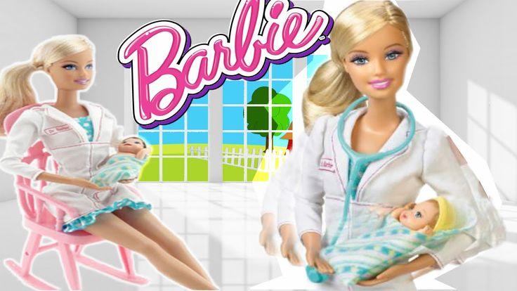 Barbie quiero ser Pediatra - Barbie I can be a Newborn Baby Doctor - juguetes Barbie