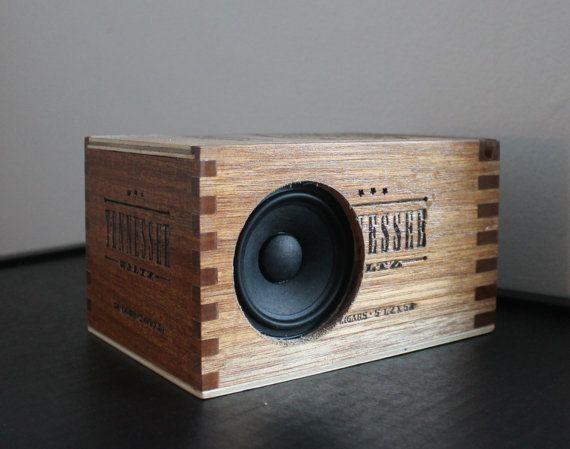 Tennessee Bluetooth Speaker, Wooden Cigar Box, Wireless Speaker