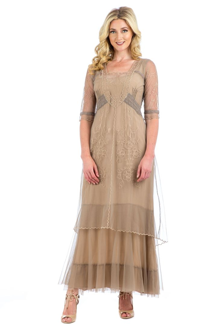 Victoria Vintage Style Party Gown in Sand by Nataya | Pinterest ...