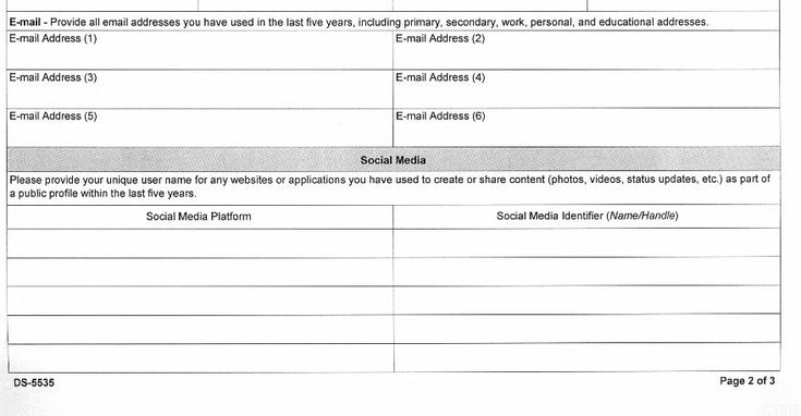 The new questionnaire that US visa applicants have to fill in requires them to supply biographical information stretching back 15 years and all their social media handles for the past 5 years.