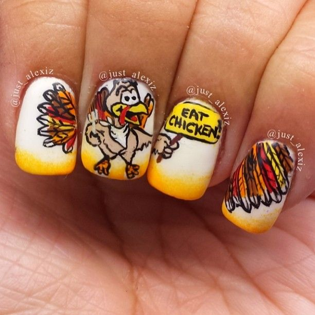 19 best thanksgiving nails images on pinterest autumn nails thanksgiving by justalexiz nail nails nailart solutioingenieria Image collections