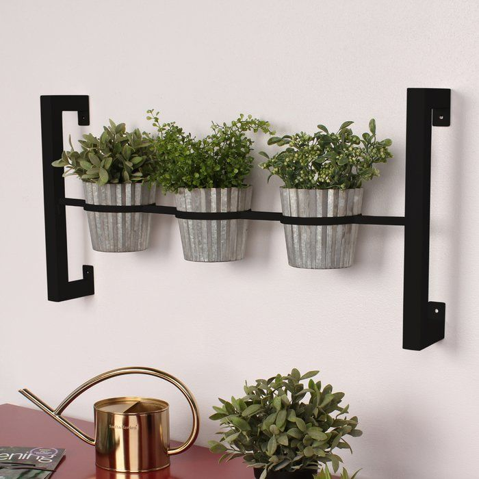Kate And Laurel 3 Piece Groves Metal Wall Planter Set Reviews Wayfair Wall Planters Indoor Wall Planter Metal Wall Planters