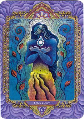 VI - Le cœur ouvert (les amoureux) - Tarot triple déesse par Isha Lerner & Mara Friedman