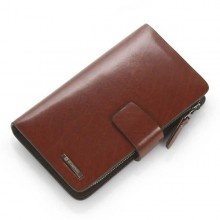 wine red men business leisure leather clutch handbag  $145.71: Leather Clutch