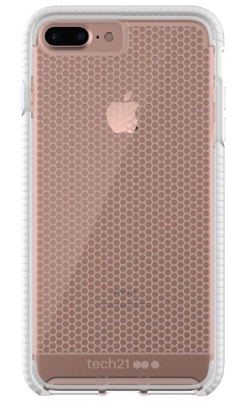 294ec6dbd7 Tech21 Evo Mesh Case for iPhone 7+/8+ Clear/White Evo Mesh - back (shown  with Apple iPhone 7 Plus/8 Plus)