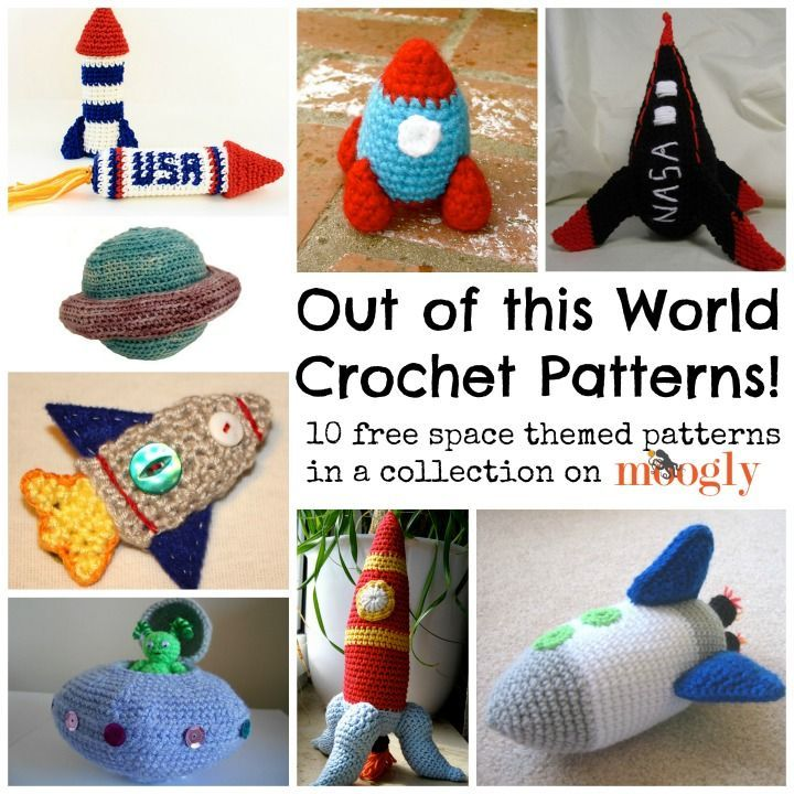 Free Crochet Patterns For Boy Toys : Crochet thats out of this world! ? 10 Free Space Themed ...