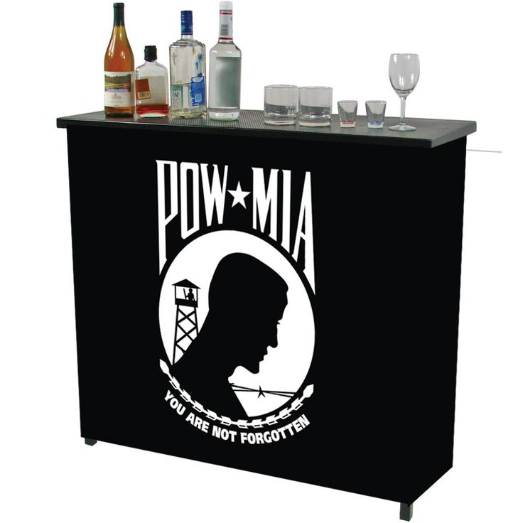 Trademark Commerce POW8000 POW Metal 2 Shelf Portable Bar Table w/ Carrying Case