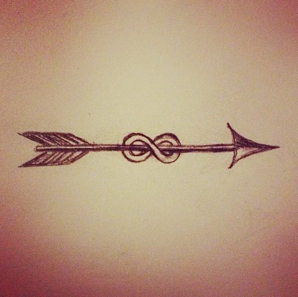 Infinity arrow tattoo