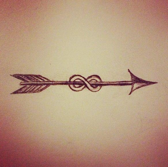 Infinity arrow tattoo