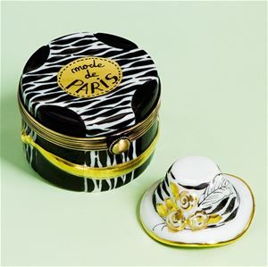 Limoges Mode de Paris Black and White Hat Box The Cottage Shop