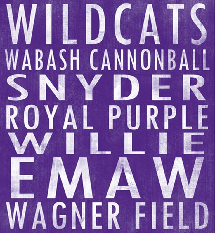 Kansas State University Wildcats art board
