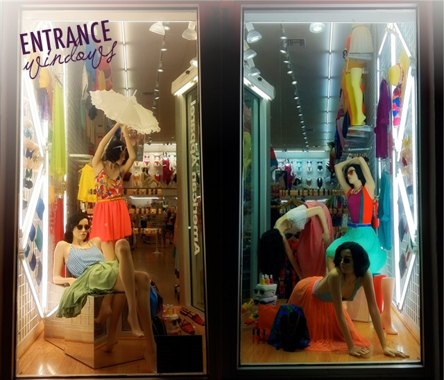 The window display of one of our stores in Miami, American Apparel!