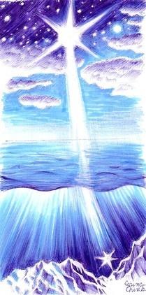 Cand marea... desen incpirat din poezia lui Mihai Eminescu