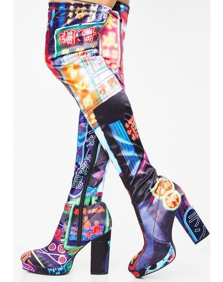 eb2601f248cd Midnight City Thigh High Boots  dollskill  cyber  city  digital  currentmood   thighhighboots
