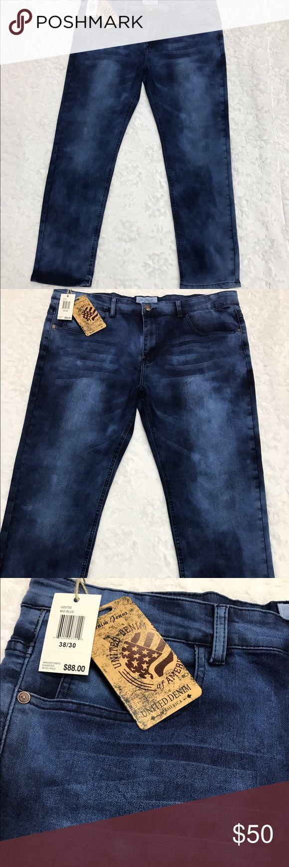 United Denim Of America Men's Acid Wash Jeans NWT United Denim Of America Men's Acid Wash size 38/30 jeans. Retailed: $88. United Denim Of America Jeans Bootcut