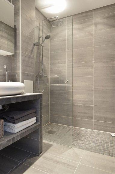 like tiles on shower floor and walls of shower...