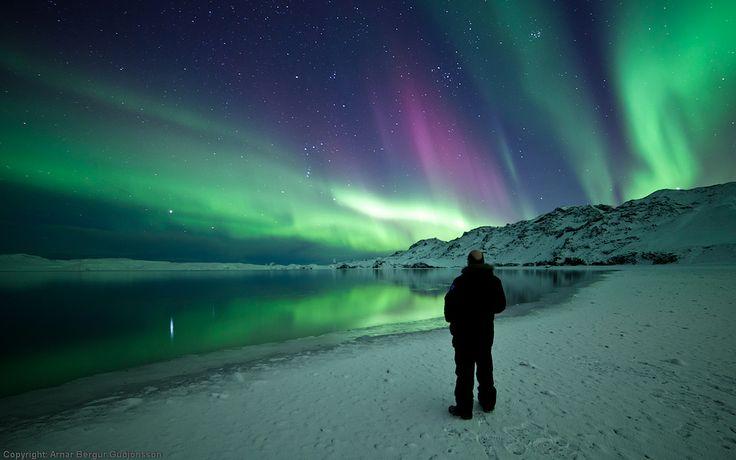 Northern Lights over Kleifarvatn, Iceland