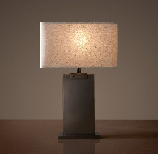 Rhs rectangular column accent lampclean lines and elemental materials lend an iconic quality to