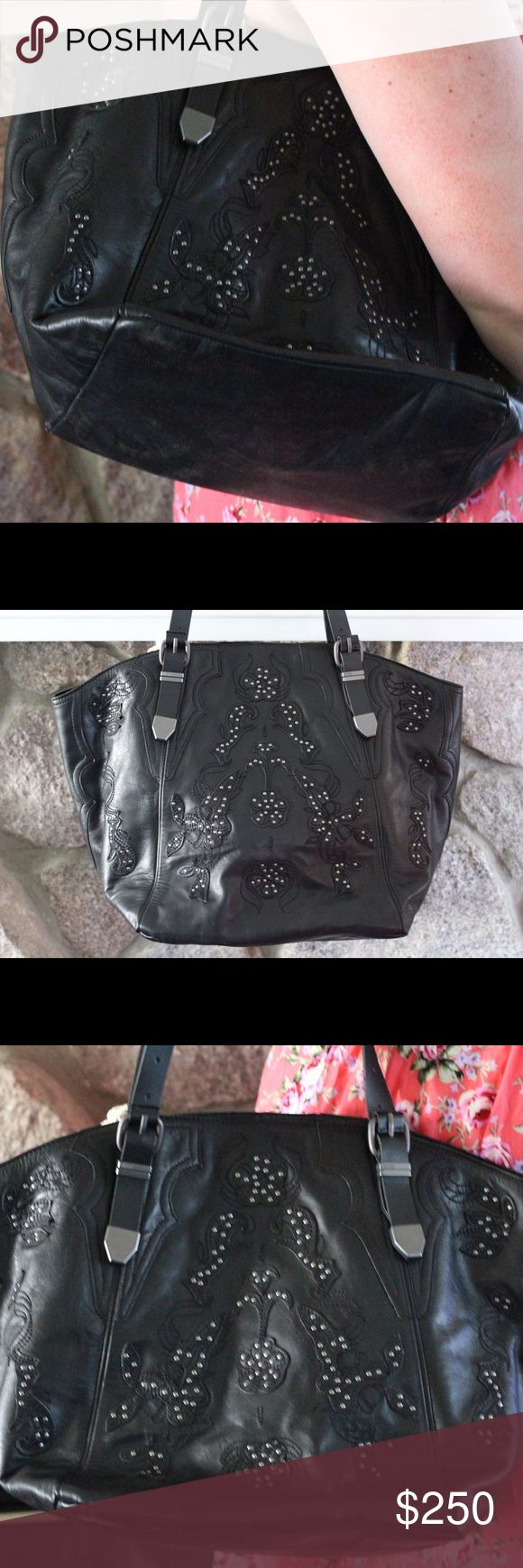 """Diesel Bag - Hold for Kerry NWT - This must have Diesel purse is perfect for your accessory collection. The floral studded accents make it unique. Includes purse bag. Originally $320 - MAKE ME AN OFFER!  Approximately 16"""" wide x 12"""" tall. Diesel Bags Shoulder Bags"""